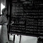 * LACW Barbara Jones at the Air Movements Board 1947