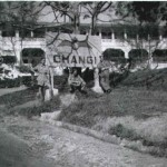 * Block 117, Coming up the Hill from the Direction of Singapore Road, 1947.