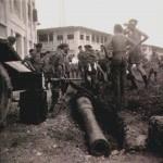 Excavation and Recovery of Hidden Gun Barrel, c1952