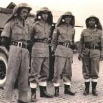 Four Crash Firemen Ready for Action, c1952.