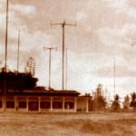 Radio Changi Buildings and Transmission Masts, c1953.