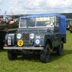 An early RAF Land Rover