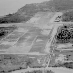 * Arial View of Airfield, Looking Towards Singapore.