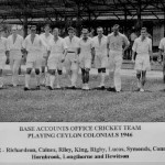 * Base Accounts Office Cricket Team which Played Ceylon Colonials,1946.