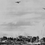 * No. 7 Squadron Lancasters Over Changi,1947.