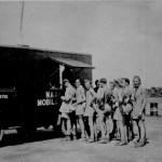 * Airmen at the NAAFI Wagon.