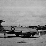 * First Gloster Meteor which Flew Over Padang on King's Birthday Parade, 1947