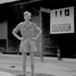 * Corporal Nunn, Outside of No. 110 Squadron Offices, 1947.