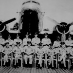 * Officers of the Far East Communications Squadron, C.O. S/Leader Wainwright