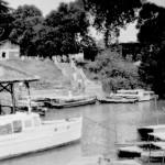 Boats in Changi Creek, c.1947-48.