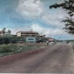 Entering the Camp Along the Changi Road from Singapore, c.1957-59