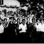 RAF and Army Embarkation Staff Celebrating Christmas, 1952.
