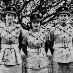 Three WRAF Personnel, Coronation Parade, 1953.