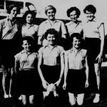 WRAF Changi Netball Team, to Play Girls Sports Club, Serangoon, 1956.