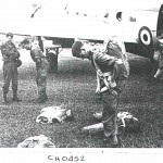 Derek Barnwell Adjusting his Parachute Harness.