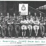 Officers and Airmen at the Far East Transport Wing Parachute School.
