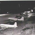 Valetta and Hastings Aircraft on the Dispersal at Night.