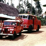Crash Section Vehicles on Wednesday Afternoon Familiarisation Run, 1958.