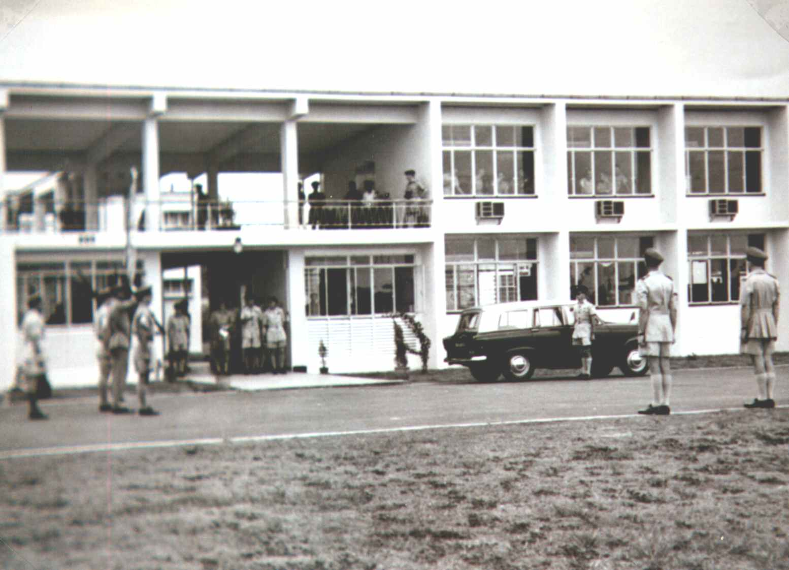 205 Squadron's New Building, with John Burrows Driver by the Car,19.6.1962.