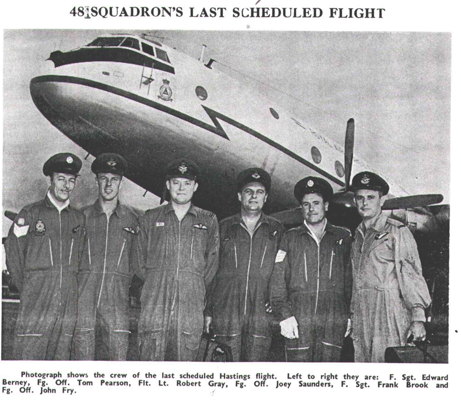 The Disbandment of 48 Squadron for Re-Equipping, April 1967