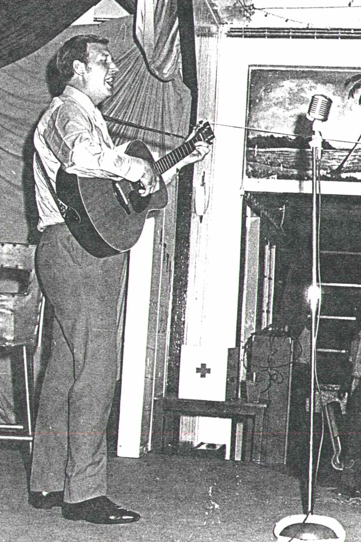 The 'Attic Folk Club', c1967