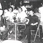 Frank, Taff, Ray and Pete in Bugis Street, 28.1.1970