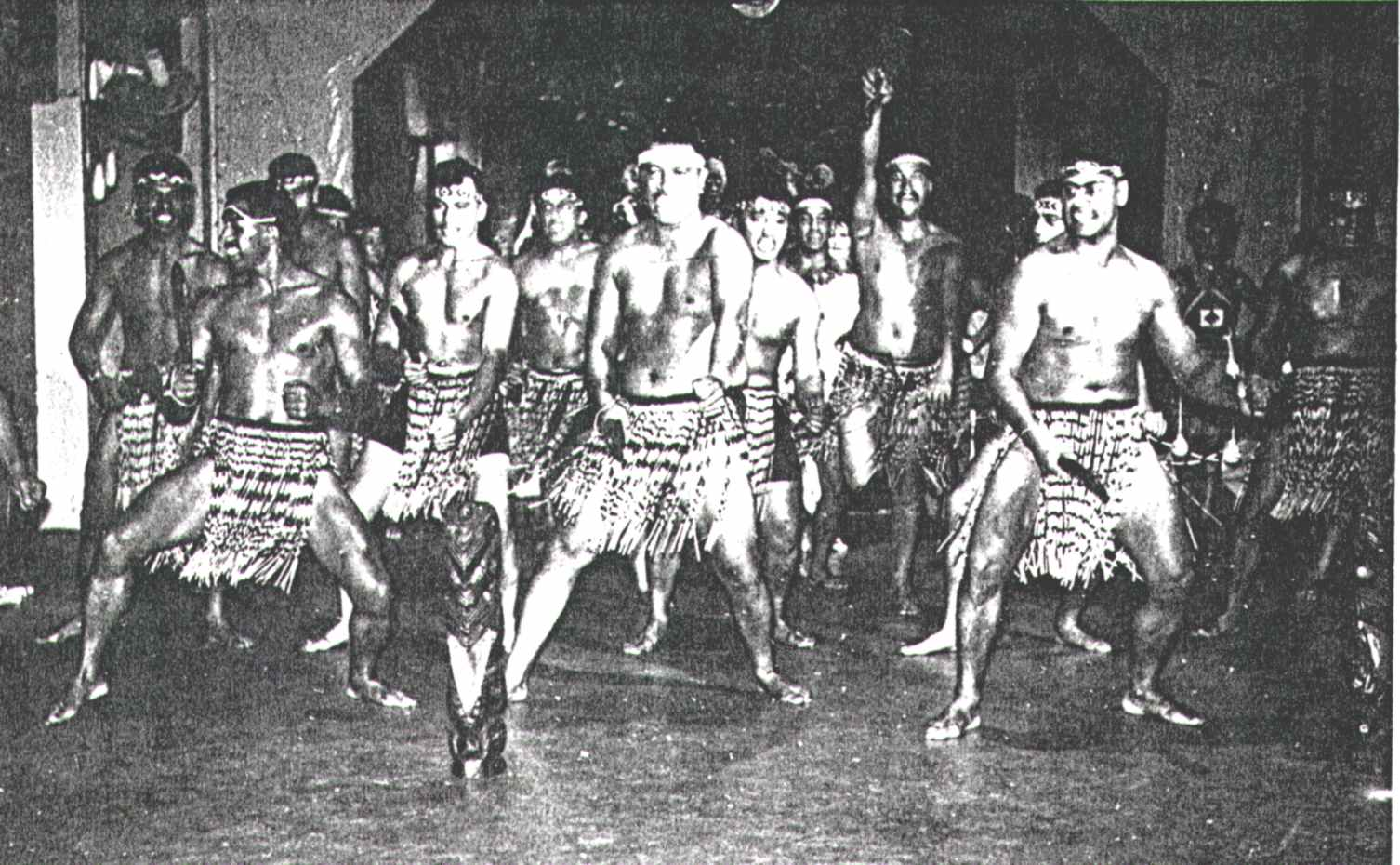 New Zealand Army Male Personnel Performing Maori Dance, 1.4.1971