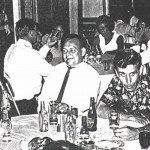 Members of 205 Squadron in the Britannia Club, 21.1.1971