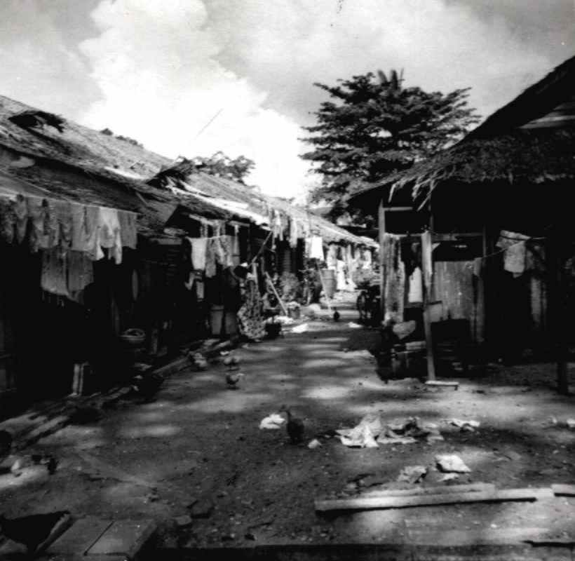 Back Street of Changi Village, 1954.