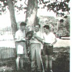 Don Grant with Two Colleagues, 1950-51