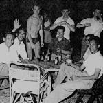 Dusty Dick,Tony Drane and Steve Hutchinson at the ATC BBQ, Telok Pakau.